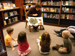 Miss Arlene reads at Storytime